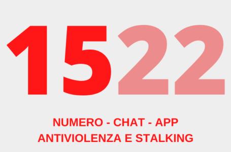 1522 numero antiviolenza e stalking